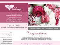 Planet Weddings, specialist wedding planners